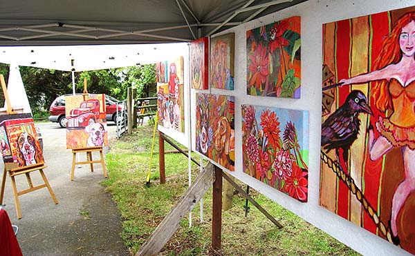 painting- 'Mylette's display at Art At The Source 2011'