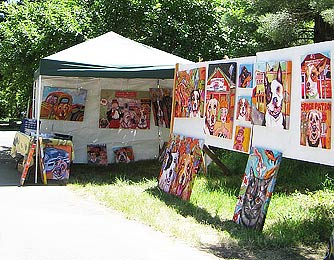 painting- 'Mylette's display at Art At The Source 2009'