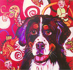 painting - 'The Year of the Dog'